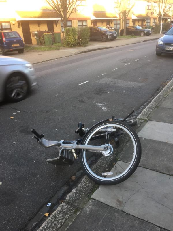 "Dumped ""Boris bike"" on KEOGH ROAD-20 Keogh Road, London, E15 4NR"