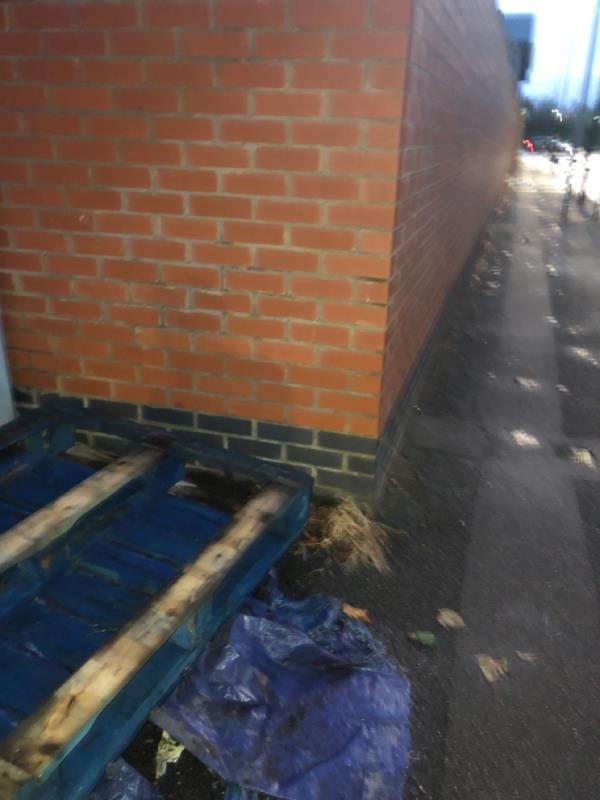 Discarded crates and wrapping image 1-192 Leyton Road, London, E15 1DT