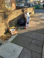 packaging dumped outside 4 Siddons Road N17-2 Siddons Road, London, N17 9UT
