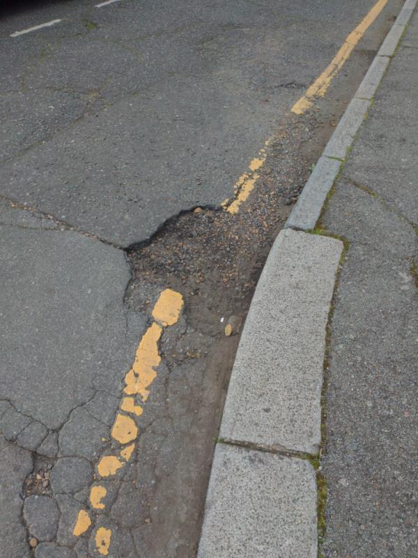 Pot hole -18 Abbotsbury Close, London, E15 2RR