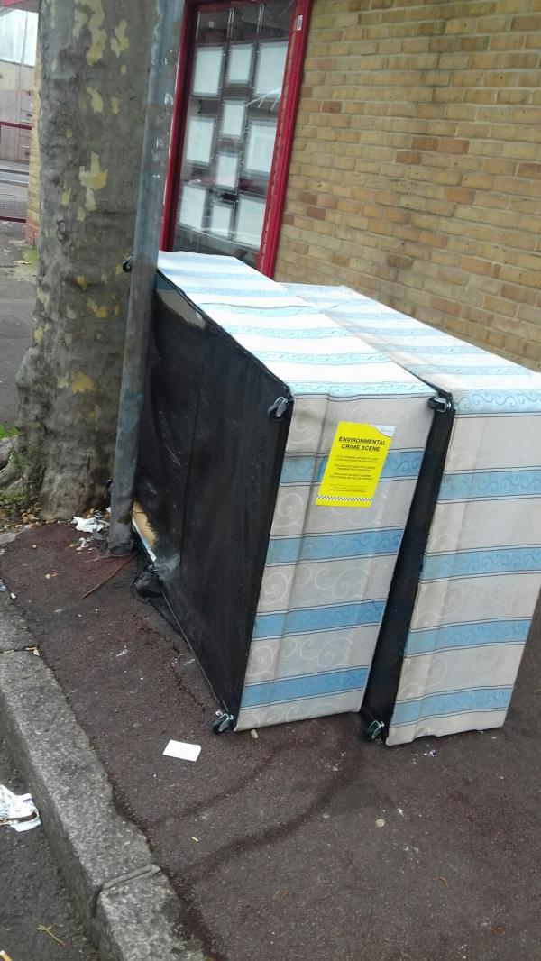 2 bedbases dumped at Coleridge Avenue junction with High Street North -8 Coleridge Avenue, Manor Park, E12 6RG