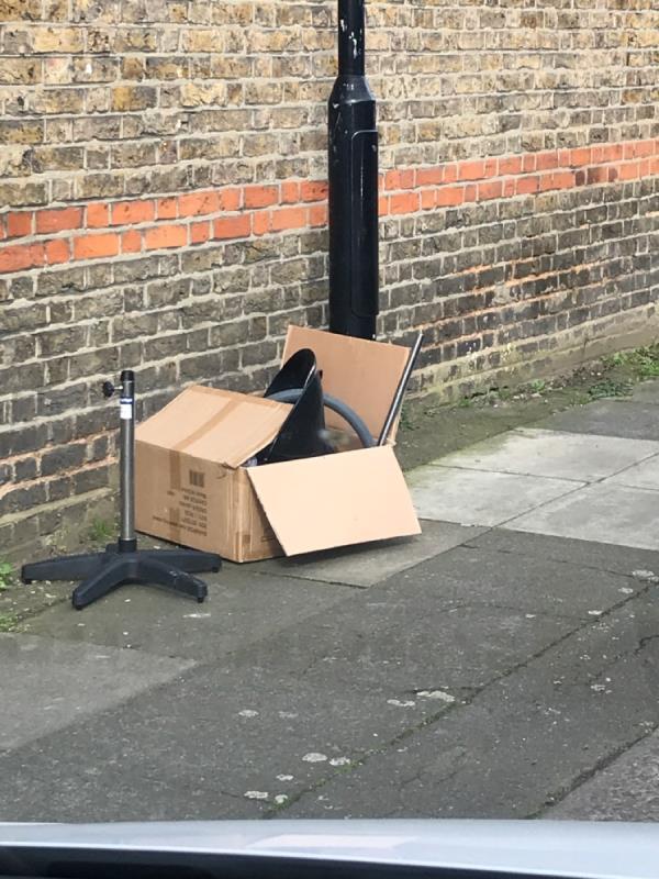 Box of rubbish-26 Shorndean Street, London, SE6 2ES