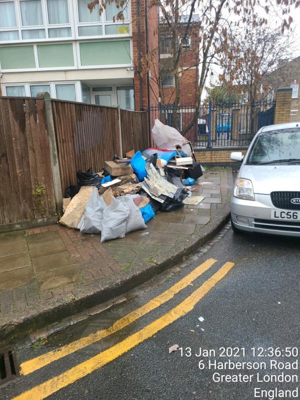 flytipping mattress, broken furniture, concentre blocks-4 Harberson Road, London, E15 3EP