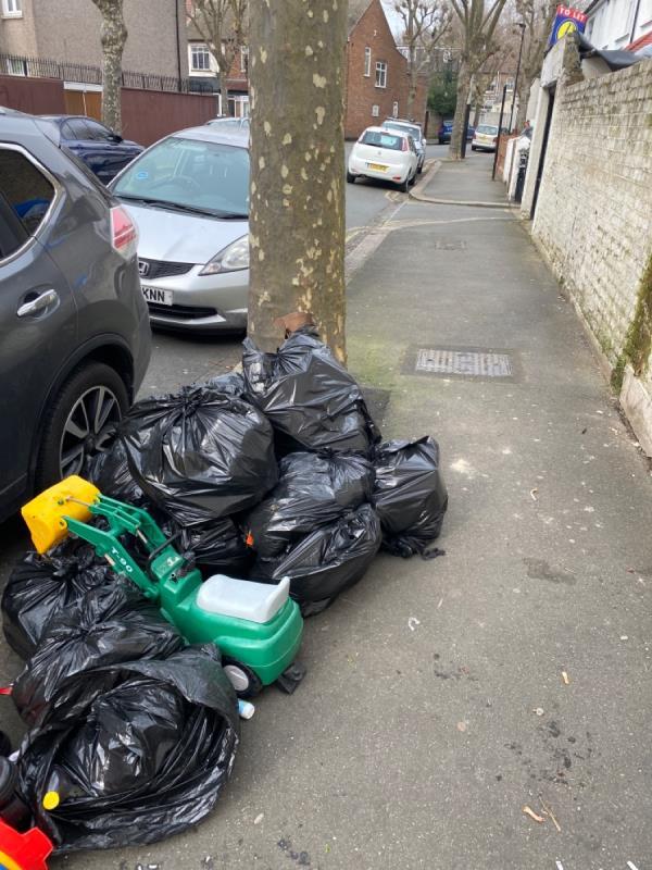 Dumped rubbish -36 Mitcham Road, East Ham, E6 3LU