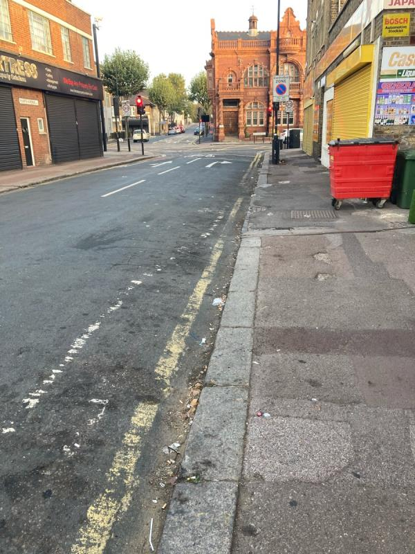This street is constantly full of litter and nothing seems to be done about it. -11 Fourth Avenue, Manor Park, E12 6DB