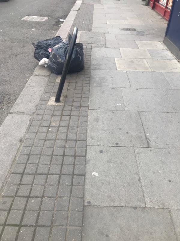 Rubbish bags-39 Woodgrange Road, Upton Park, E7 8BA
