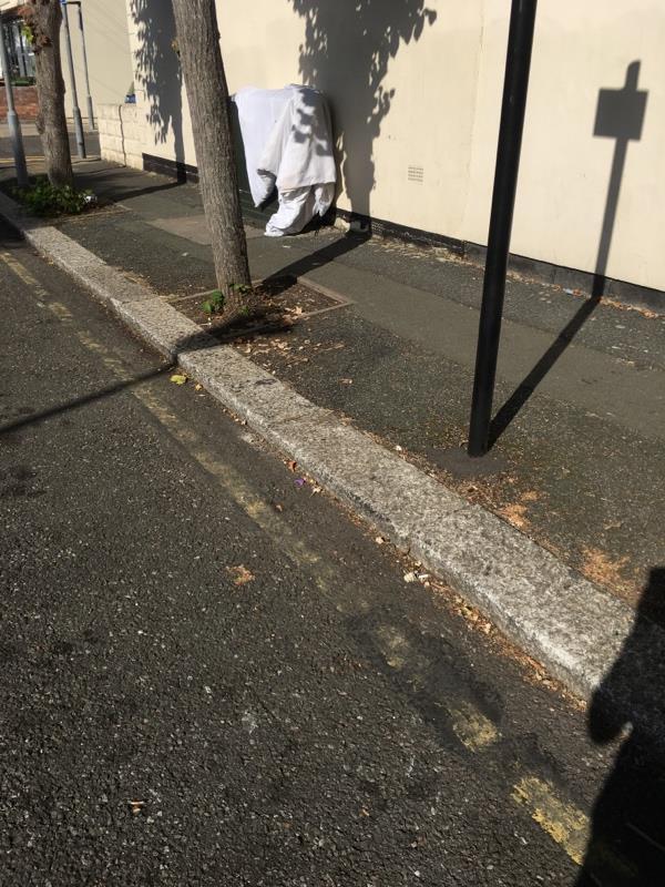 Dumped duvet -21a Ferndale Road, London, E7 8JY