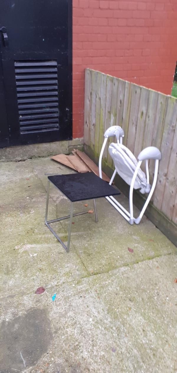 Broken furniture and wooden flooring -7 Drakefell Road, New Cross Gate, SE14 5SW
