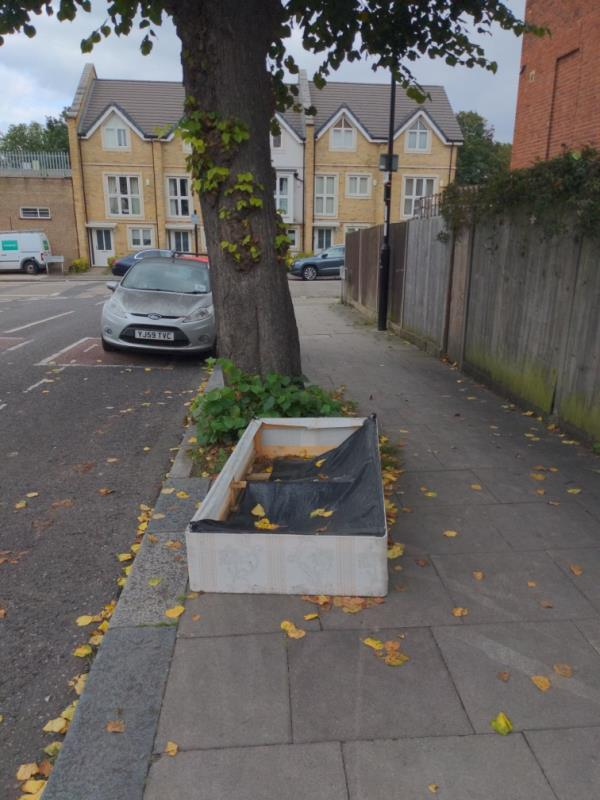 Bed base and black bag-46 Beacon Road, London, SE13 6EB