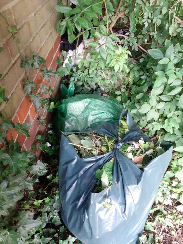 bags of garden waste, bedding etc-110 Cumberland Road, Reading, RG1 3JT