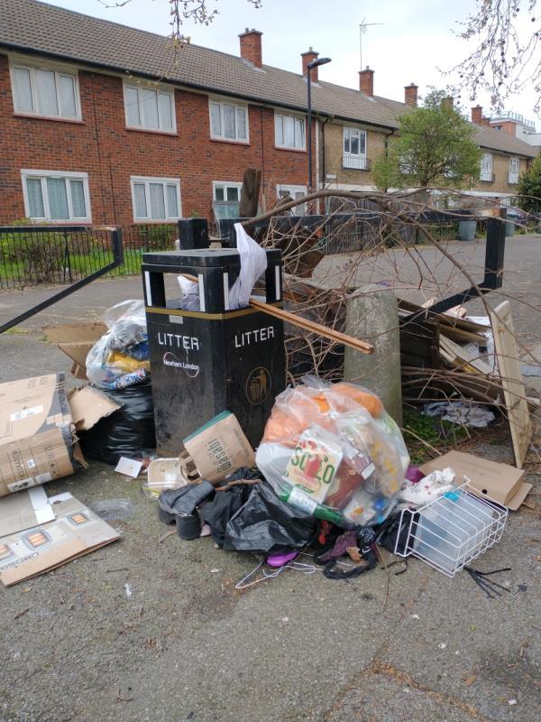 Boxes, bags and wood-27 Whitear Walk, London, E15 1QJ