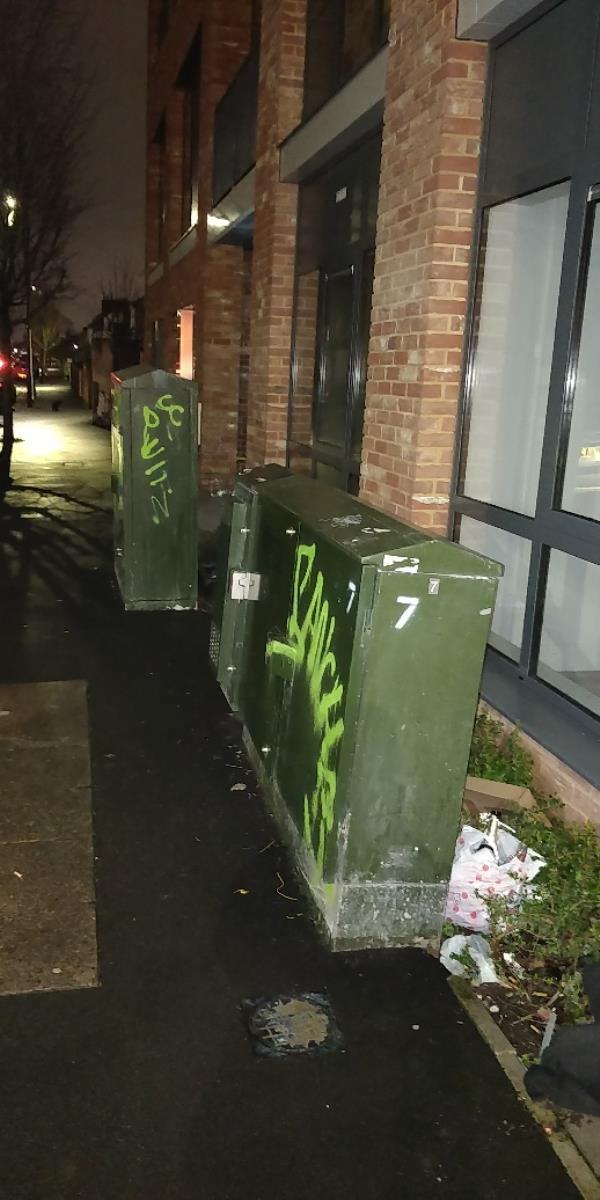 Graffiti-60a Leytonstone Road, London, E15 1SQ