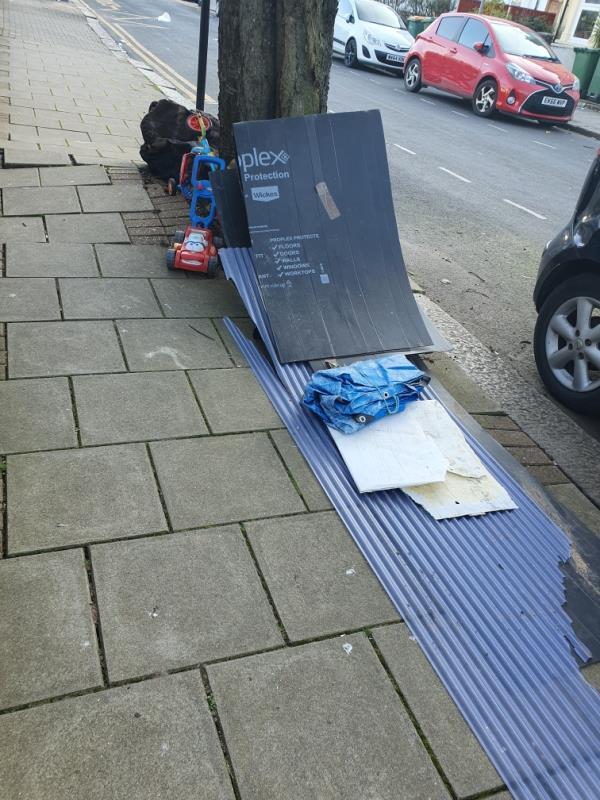 Rubbish dumped outside Selwyn school on Cecil Road.-19 Crescent Road, Plaistow, E13 0LU
