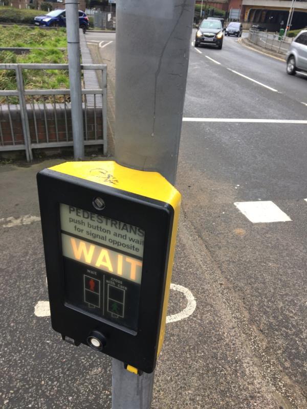 Tag on traffic light post -23 Forbury Road, Reading, RG1 3BD