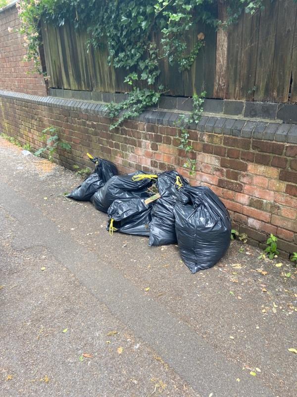 Big bags - garden waste I think -55 Belgrave Avenue, Leicester, LE4 5PE