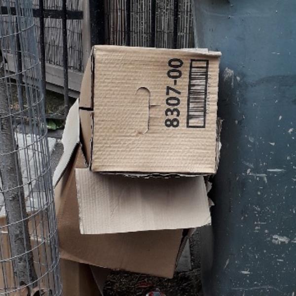 cardboard box -2 Kirton Road, Plaistow, E13 9BT