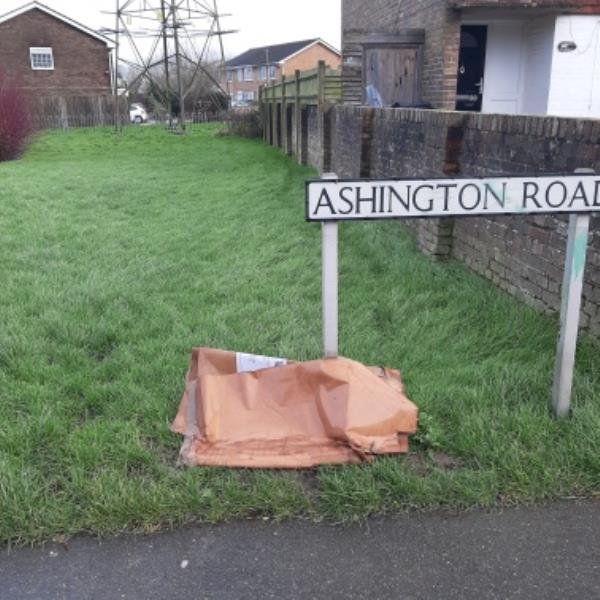 SEESL from NP Zone2 EBC 4pm 17th Feb 20vplesse could you remove the cardboard box from Ashington Rd at the Pigs Lane end.  Thank you-80 Ashington Road, Eastbourne, BN22 9DY