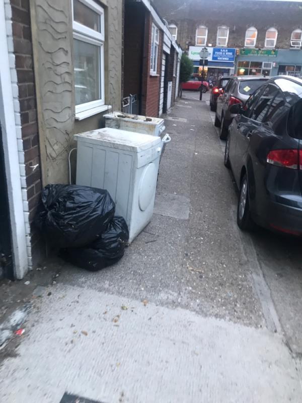 23 dean street dumped their tatty old cooker & dryer on public footpath -27 Dean Street, London, E7 9BJ