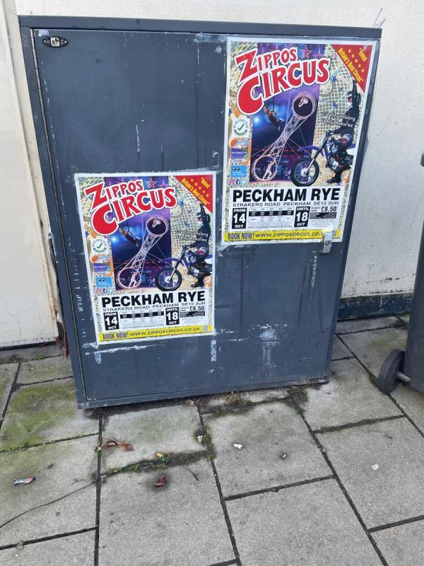 On cabinet -1a Marnock Road, Brockley, SE4 1EU