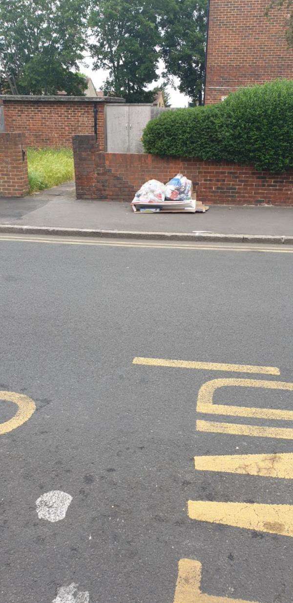 Fly tipping -269 High St N, London E12 6SL, UK