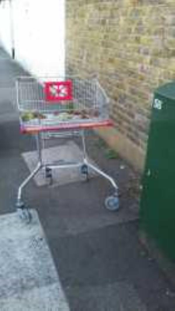 Please clear A Sainsburys Trolley. Reported via Fix My Street-3 Blashford Street, London, SE13 6UA