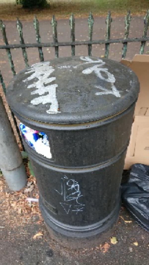 Graffiti on bins-26 Saint Bartholomews Road, Reading, RG1 3QA