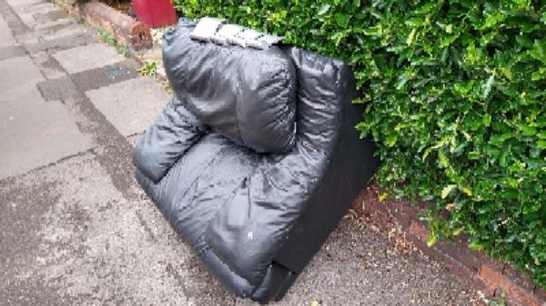 dumped furniture on Coventry road outside 19, 62, 64-27 Coventry Road, Reading, RG1 3ND