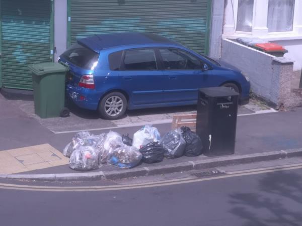 Rubbish dumped-55b Frinton Road, East Ham, E6 3EZ