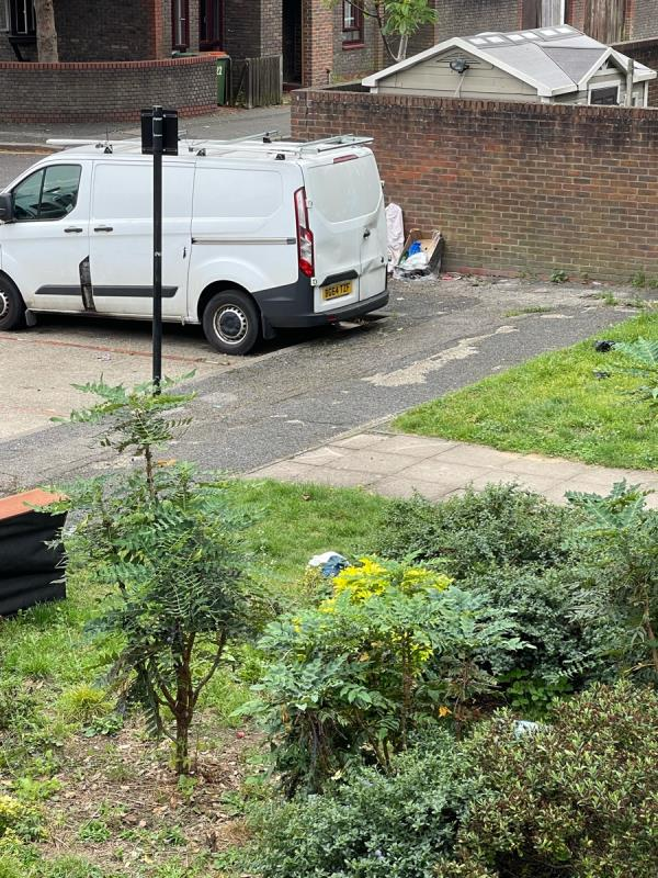 Please do not close or mark the previously reported fly tipping issues as completed, the same rubbish can be seen in attached pictures along with day and time.   image 1-15 Walnut Gardens, London E15 1LL, UK