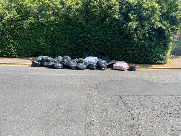 bags of rubbish -3 Kings Ct, London E13 9HZ, UK