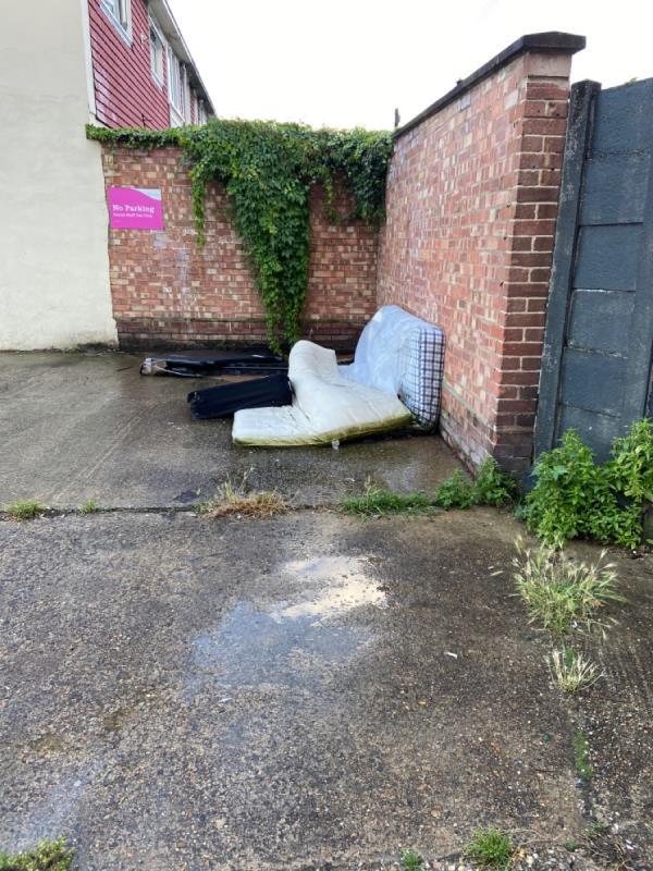 Mattresses and rubbish-106 Parr Road, East Ham, E6 1QH