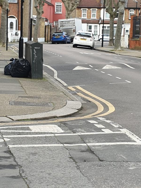 rubbish left in street on sandford rd-80 Mitcham Road, London, E6 3LT