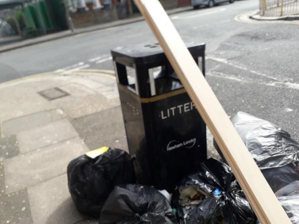 7 black bags  image 1-32 Upton Avenue, London, E7 9PN