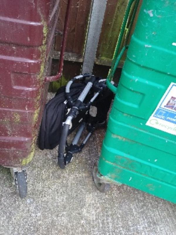 pushchair in bin store 77-87 Severn way-75 Severn Way, Reading, RG30 4HN