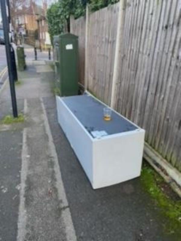 Junction of Brandram Road. Please clear a fridge-42a Belmont Park, London, SE13 5DB