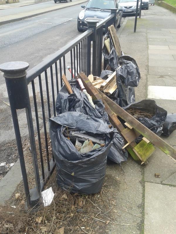 Please clear flytip of builders waste-132 Southend Ln, London SE6 3DW, UK