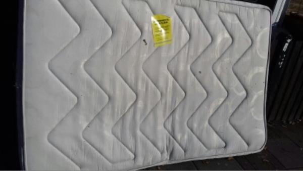 A mattress dumped outside 131 Greengate Street -78 Park Avenue, London, E6 2SR