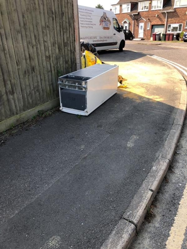 Fridge fly tipped-8 Thornton Road, Reading, RG30 1JY
