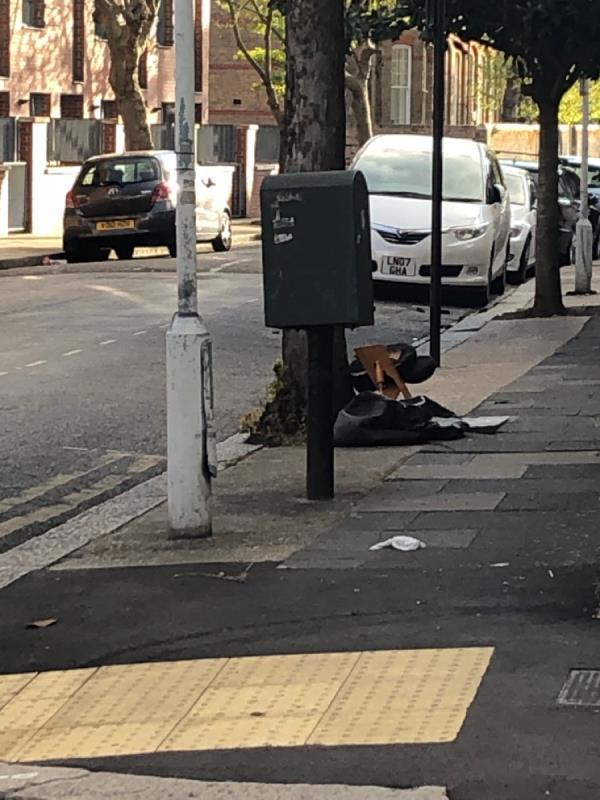 Chair and fabric bag/case-13 Credon Road, Plaistow, E13 9BS