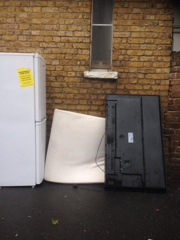Fridge, mattress, tv-208 Romford Road, London, E7 9HY