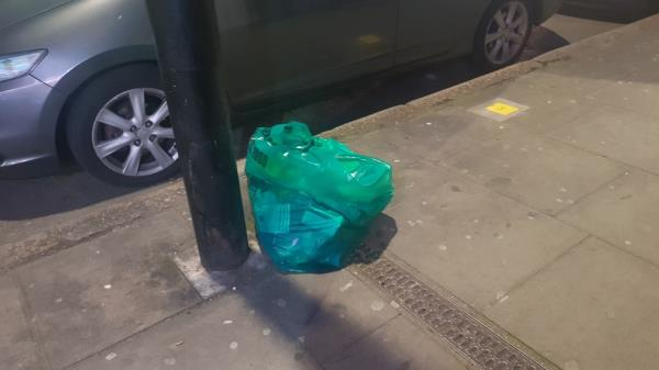 collection point moved still people are keeping the rubbish here.-33a Plashet Grove, London, E6 1AD