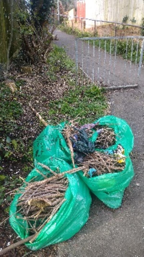 Green bags taken -108 Galsworthy Drive, Reading, RG4 6PP