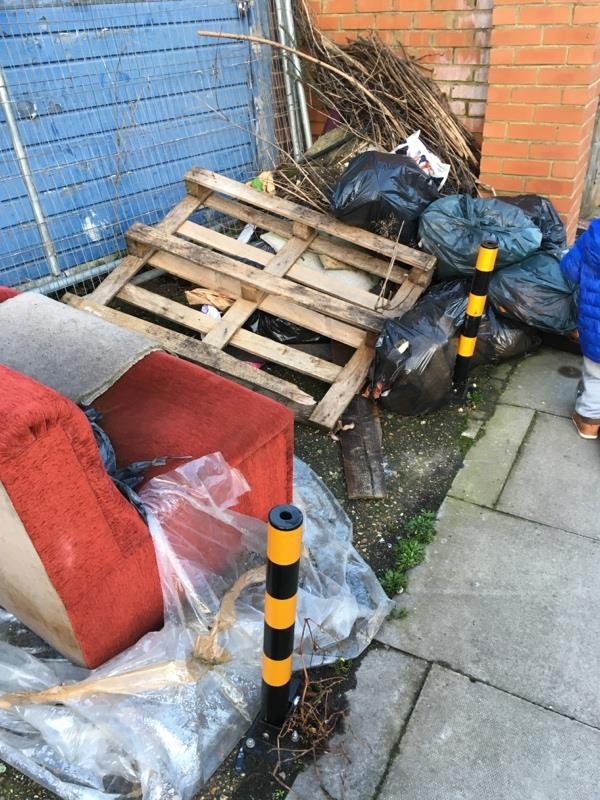 Pile of rubbish -42 Park View Road, London, N17 9AT