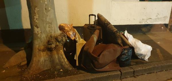 carpet & black bags-21 Clements Road, London, E6 2DU