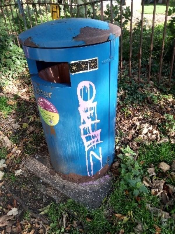 Graffiti on the bin removed 1sq m-67 Elliots Way, Reading, RG4 8ET