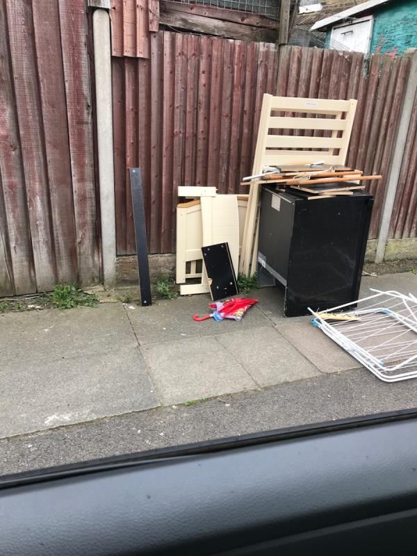 Fridge opposite no.92 Albacore Crescent -50 Felday Road, Lewisham, SE13 7HJ