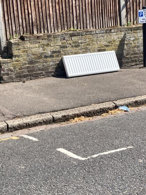 A radiator has been dumped -2 Manor Park, London, SE13 5RN