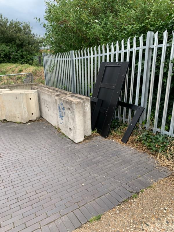 Fly tipping - discarded furniture -Bawley Court, 1 Magellan Boulevard, North Woolwich, E16 2FU