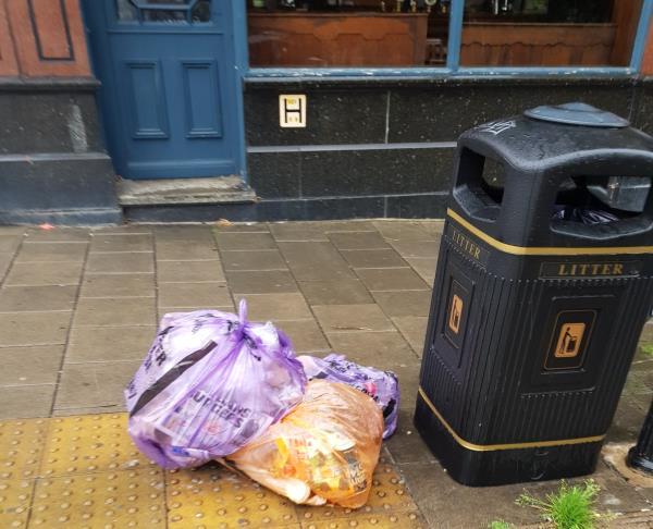 Rubbish sacks dumped-1a St Michaels Terrace, London, N22 7SS
