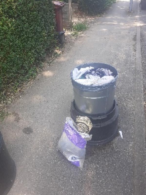 bin full of household DIY waste bags taken away -18 Upper Redlands Road, Reading, RG1 5JP